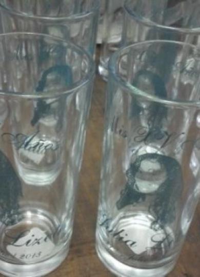 Vasos Impresos de Vidrio